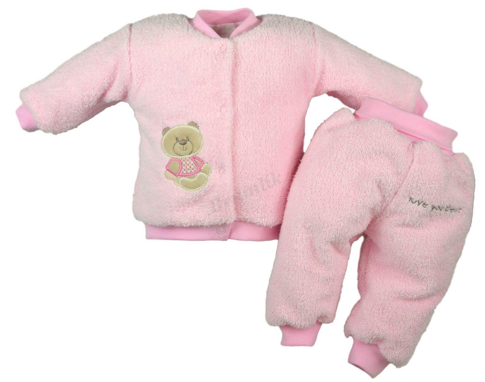 d82c52bc643 Zimní souprava - Sladký medvídek - růžová