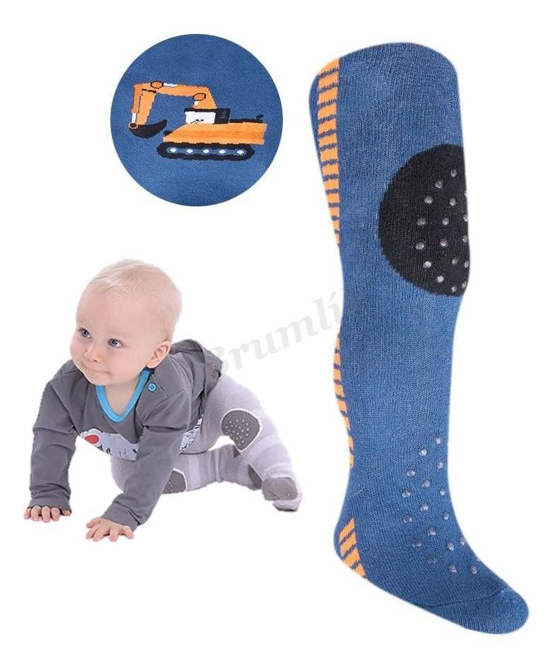 Dětské froté punčocháče 3 ABS modrá  e7b5a80df9