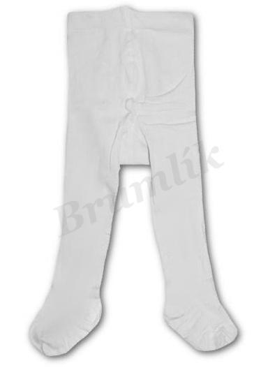 Kojenecké bílé punčocháče  5f16c2e015