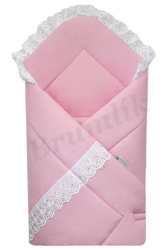 7be0cf452f0a Luxusní zavinovačka s krajkou růžová