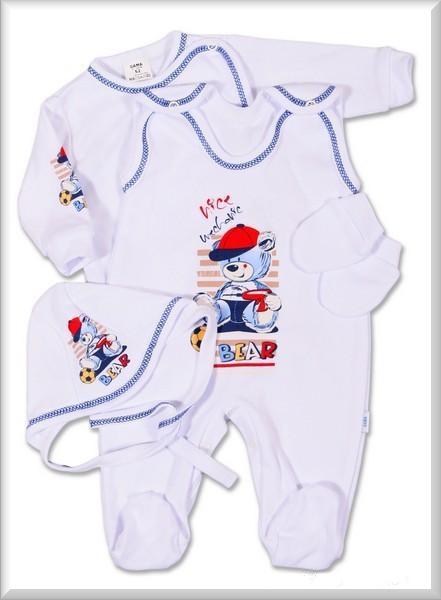 851ada6211c kojenecká souprava 4 dílná-medvídek