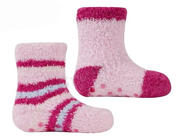 Dívčí froté ponožky 2 páry - protiskluz  80df7600e4