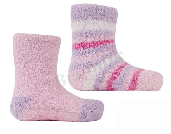 Dívčí froté ponožky 2 páry - protiskluz 8361764cde