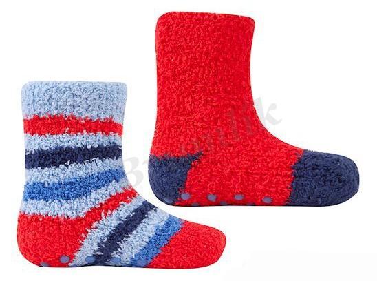 Chlapecké froté ponožky 2 páry - protiskluz  7bc66a6201