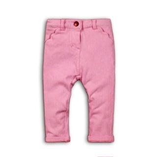 9cdee666ba6 Kojenecké dívčí elastické kalhoty - růžové empty