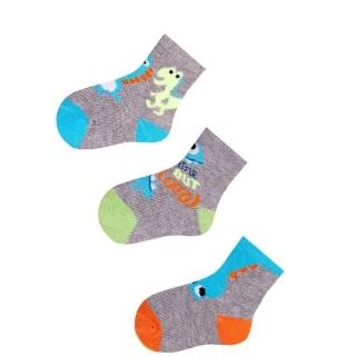 9066cd580d9 Kojenecké bavlněné ponožky 3 páry Dino empty