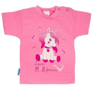 d56a00d5111 Dětské tričko kr. rukáv Koník růžové 92 empty