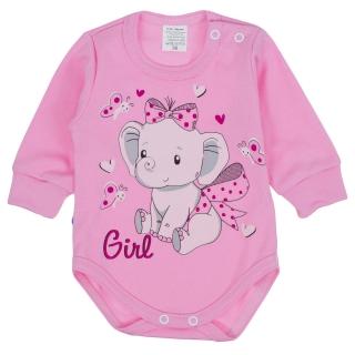 9bbb746ab83 Dětské body GIRL - růžové 92 empty